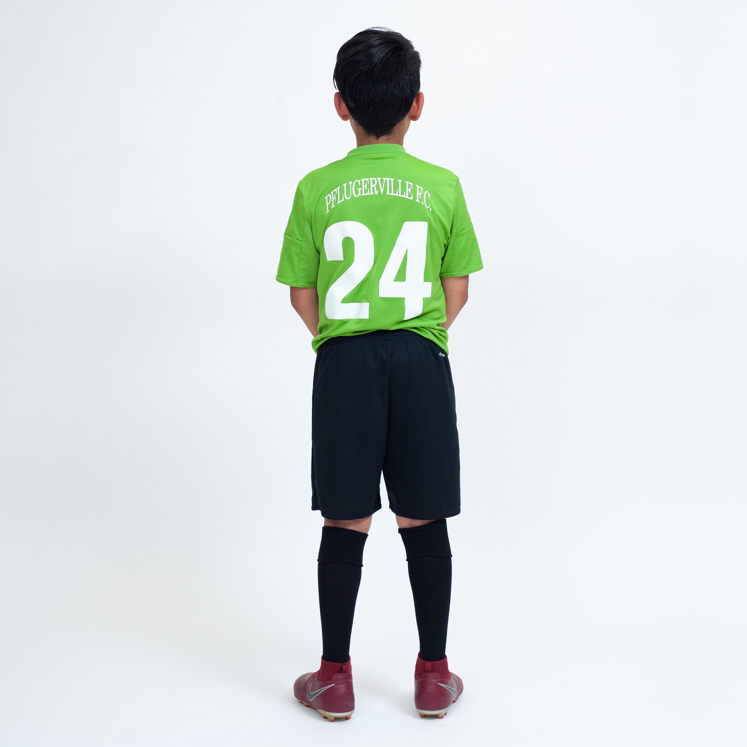 Pflugerville FC Select: Practice jersey (back)