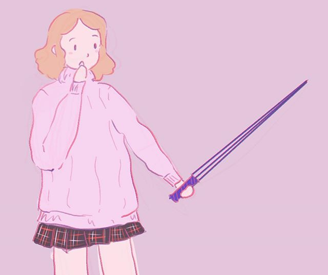 @apricotwhat wanted me to give haru a sword  #haruokumura #persona5
