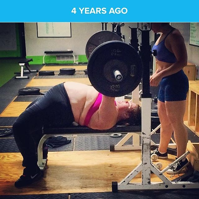 Wow. 4 years ago I really began to love and appreciate my body. It took so much courage for me to take my shirt off in training. You know what's crazy, no one batted an eye at it. Often times, WE are more judging of ourselves than others. #bodypositive #selflove #powerbelly #bikinibody #plussize #plussizeathlete #benchpress #loveyourself #womenempowerment #wcw #wce
