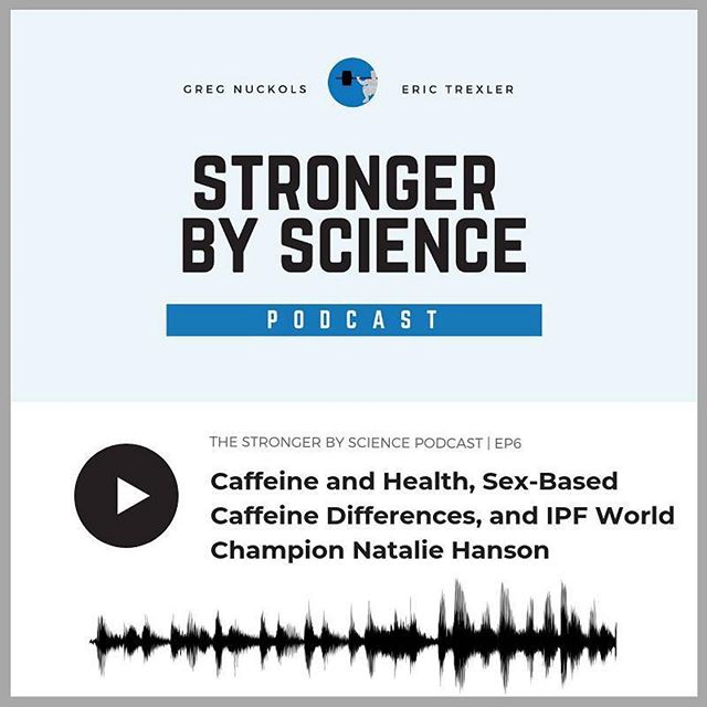 """Had a blast chit chatting with @gregnuckols and @trexlerfitness. Thanks for having me, guys! - #Repost @gregnuckols ・・・ New podcast! Most of our discussion is about caffeine, in which we answer the age-old question: """"who the hell drinks 25 cups of coffee per day?"""" in response to a recent study that made the rounds. - We also had a great interview with bench press world record holder @natalie.907 about women in strength sports, raw versus equipped lifting, and much more. - You can find it wherever fine podcasts are found, in addition to our YouTube channel and Spotify.  Links on my profile. - #podcast #strength #performance #physique #powerlifting #bodybuilding #caffeine #benchpress #ipf"""