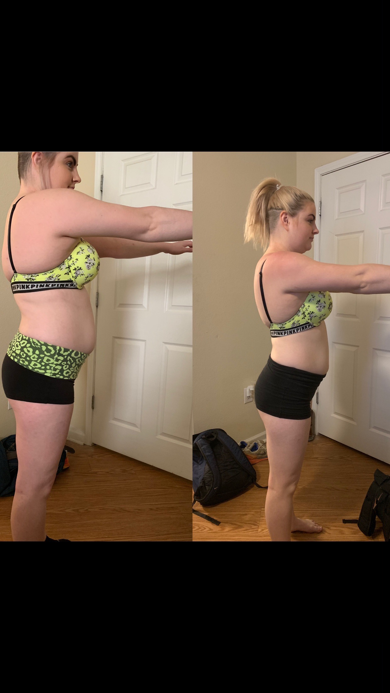 """- """"Hannah's MPR program is so helpful! I've never been athletic, or fit. Always been smaller until my metabolism caught up with me and then I didn't know how to eat right or what to do. She makes customized workouts for me and personally shows me how to do everything properly. My workouts are also perfectly intense for me, she pushes me just enough to up my weights and be faster but not over the edge. She has positive, motivating energy and she is so nice every time we talk. She works great around my schedule (I'm very busy) and texts me back almost immediately at almost anytime of the day (I have a lot of questions). She changes things up, both the food and workouts so you don't feel like you're doing the same thing every week, or if you dislike something she'll change it. She tells me the measurements of what I need to be eating (didn't even know I needed that). She sends out links of her favorite tupperware, food, supplements, protein and kitchen appliances.... which are all inexpensive. And so is her program, I'm saving so much money on groceries now. Once a week she sends out my measurements, meals, grocery list you can copy and paste to your Click-list at Kroger and full detailed recipes with pictures. She basically dose everything expect cook your food. The meals are easy to make and so tasty. I've also learned a lot from Hannah, she is very knowledgeable and is constantly sharing information with me to help better the way I treat my body and giving her recipes to this young adult that only knows how to make a handful of dishes is exciting. I've been doing this program for a month however I've already lost 2 1/2 inches from my waist. I'm seeing progress, I'm feeling healthier and more energetic. I would definitely recommend Hannah to anyone.""""-Sarah c."""