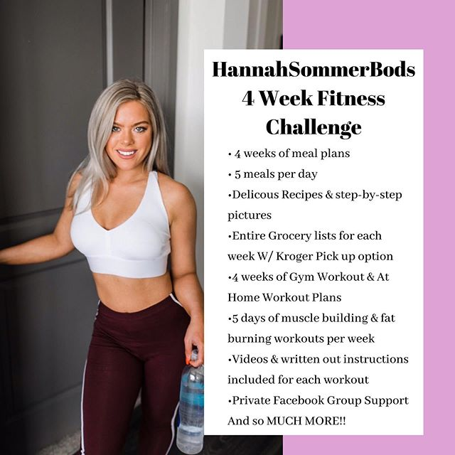 It is that time again!!👏🏼👏🏼👏🏼 I am hosting another HannahSommerBod 4 Week Fitness Challenge!! 🍑😍🙌🏼 • Begins August 12th!! ✨🗓 • There are so many AMAZING prizes to win and you DO NOT want to miss out on this opportunity!! 🙌🏼 • You won't only win prizes but gain a whole new confidence level and implement a healthy lifestyle!! ✨ • I have changed so many woman's lives so far & only want to continue to do so!! 🙌🏼🤩 • Join my SommerBod Challenge THIS weekend & you'll receive an entire $30 OFF👏🏼👏🏼 • LET'S GET IT BABES❤️👏🏼 • Check out my website at HannahSommerBods.com to purchase your challenge! • Special THANK YOU to @nutritionfaktory @rucknutrition @aspiringhealthchiro @ambitionthreadsco @hwx.murfreesboro  for supporting my SommerBod Fitness Challenge!! Y'all ROCK🤘🏼🥰 • • • #fitness #fitfam #fitnesschallenge #onlinecoach #nutritionfaktory #rucknutrition #ruckfam #teamnutritionfaktory #murfreesborotn #murfreesboro #nashvilletn #nashville #nashvillefitness