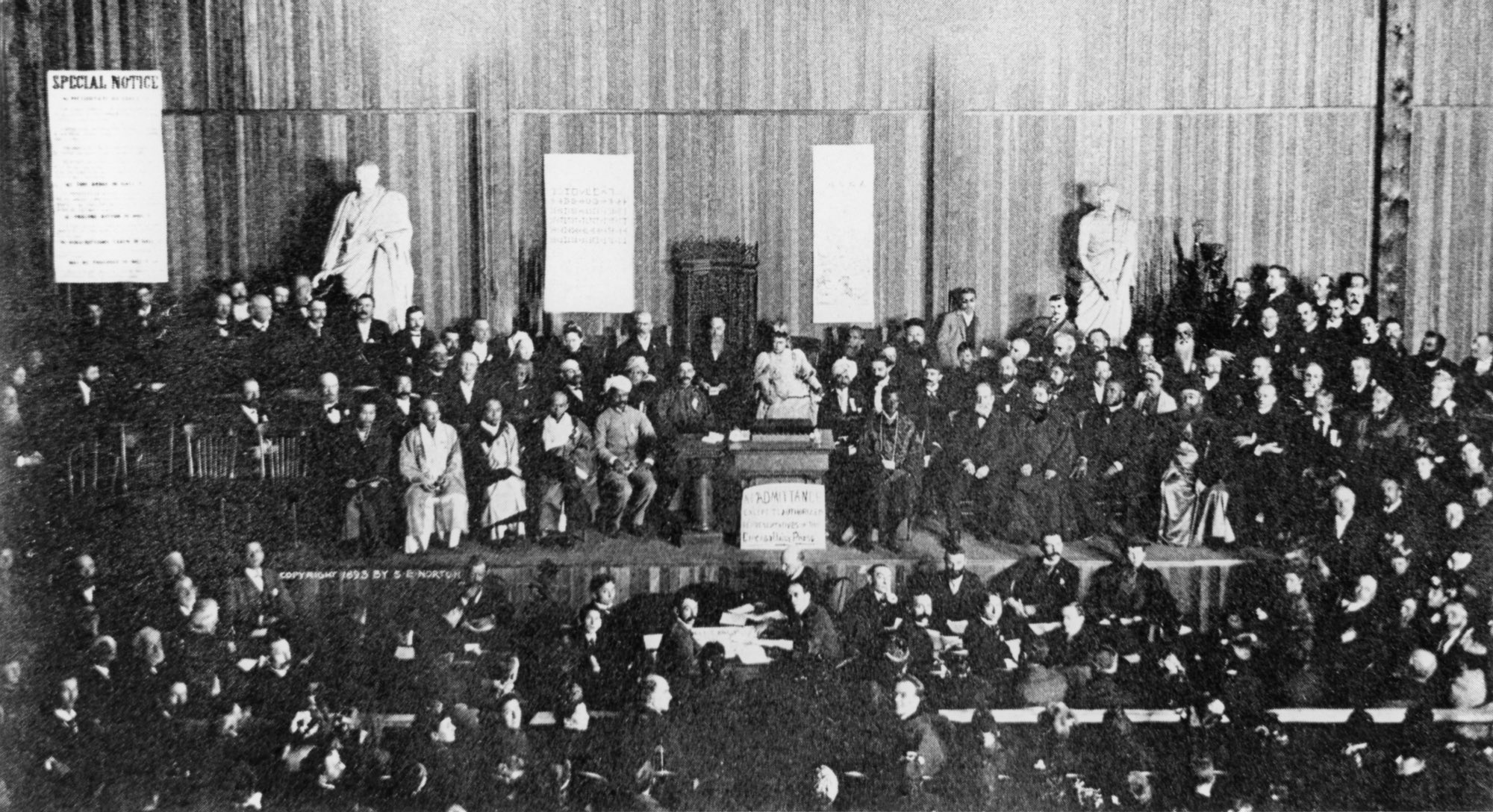 (#28) Chicago, September 1893. This photo was taken during the closing session of the Parliament of Religions, on the evening of September 27.