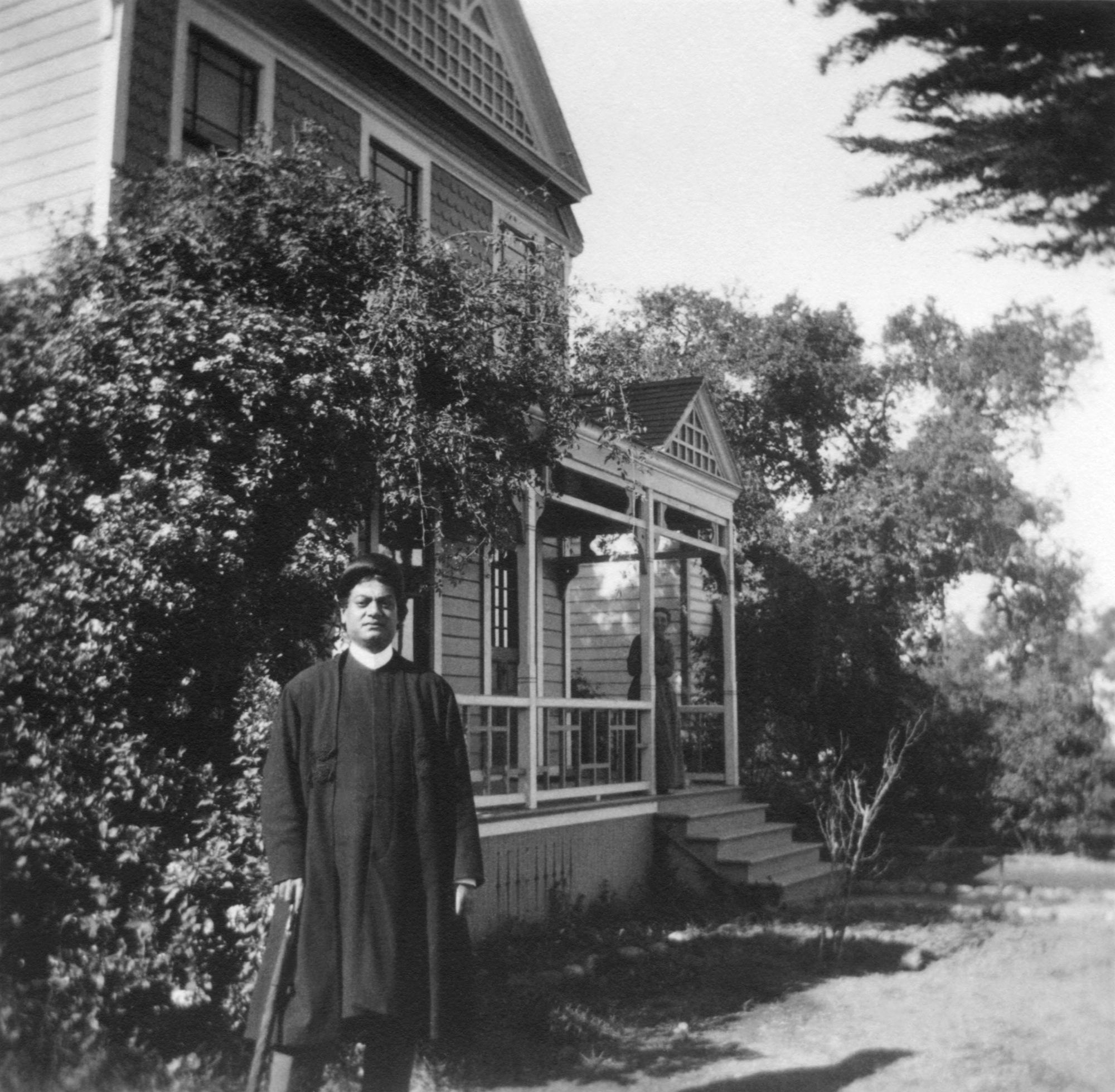 (#81) South Pasadena, California. January 1900. The house, now known as the  Vivekananda House , is located at 309 Monterey Road.