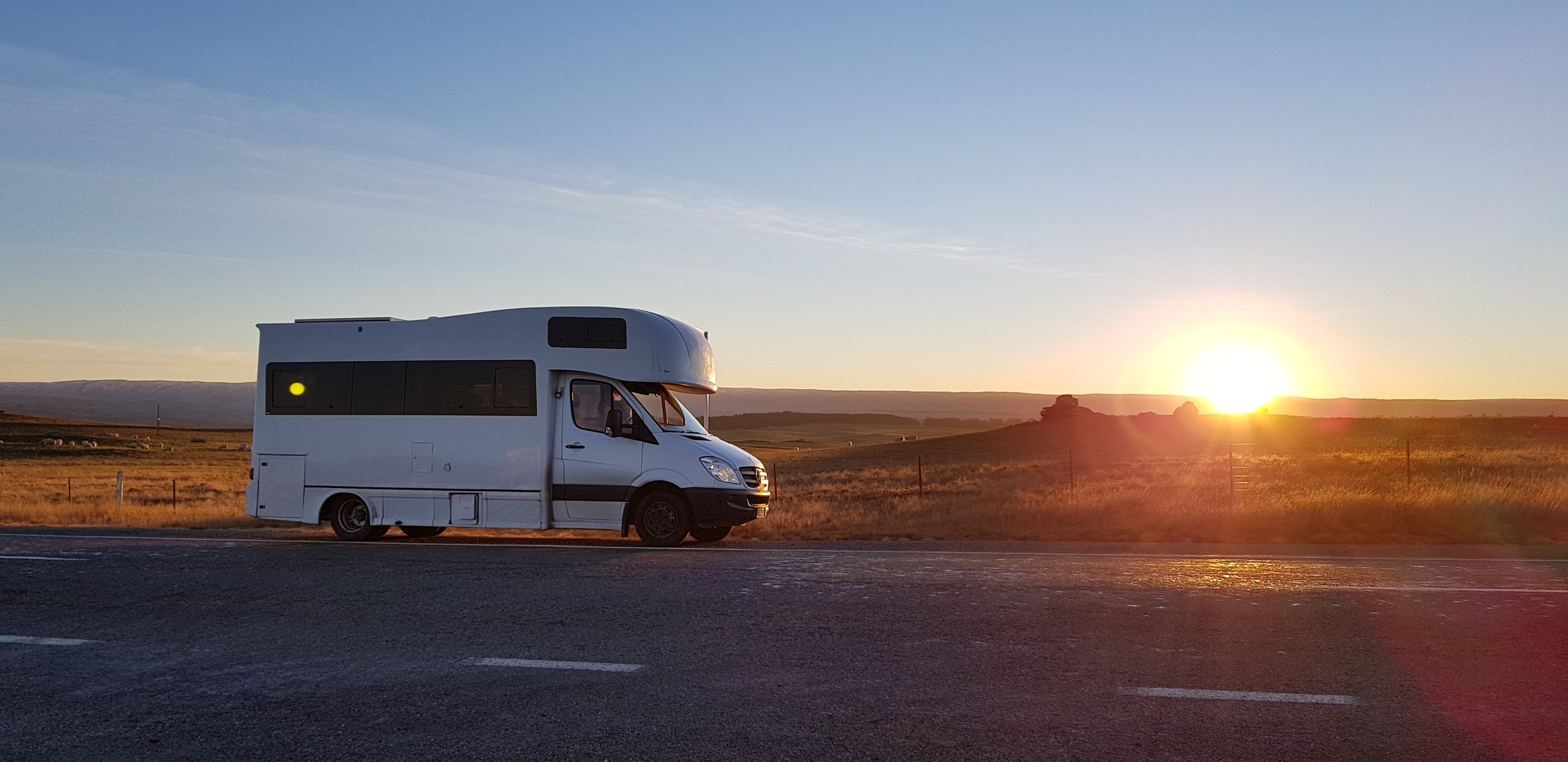 4 Berth Mercedes road sunset.jpg