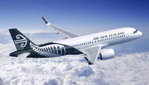 An Air NZ plane in mid flight