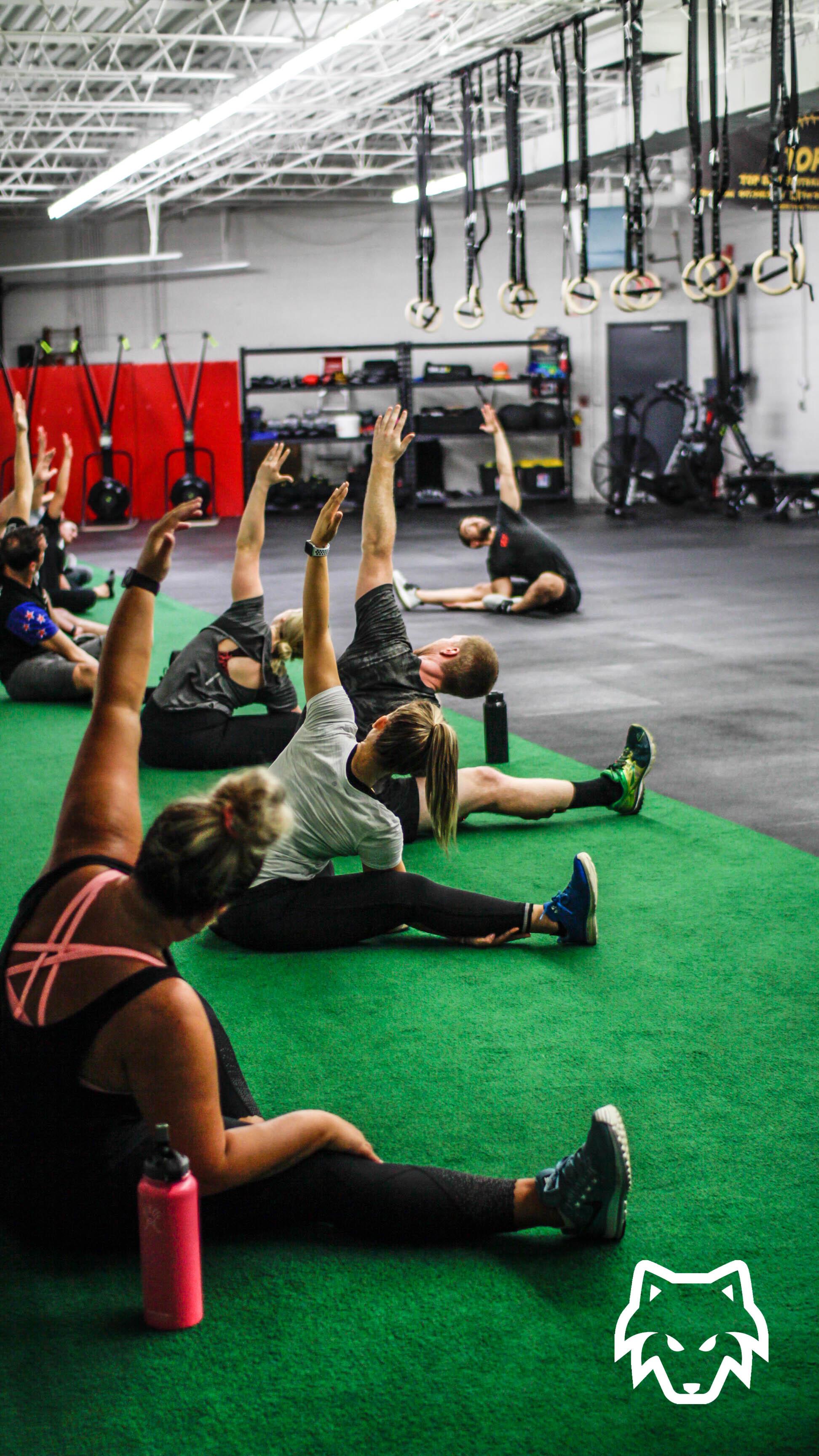 Bodyweight workout class near West Chicago, Illinois