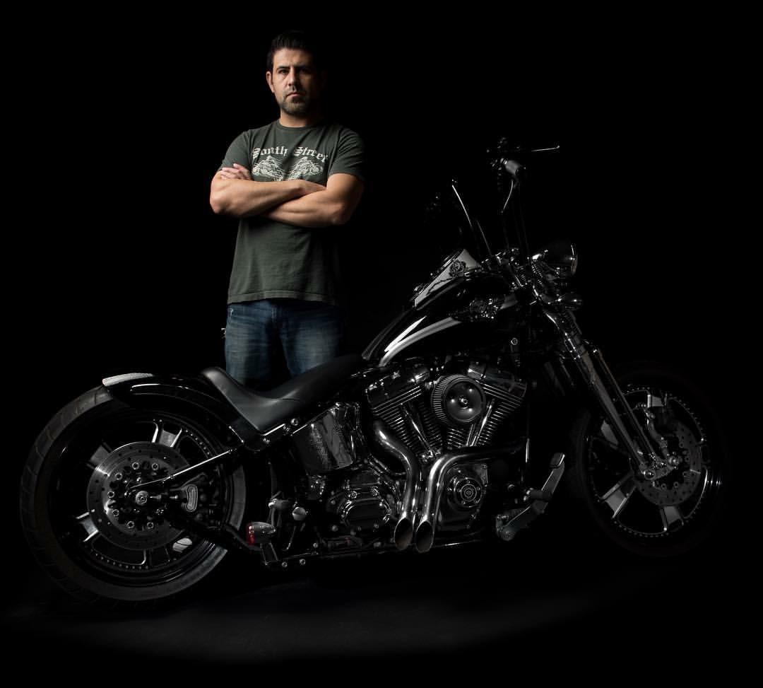 Self Portrait with my 2003 Harley Davidson Springer Softail