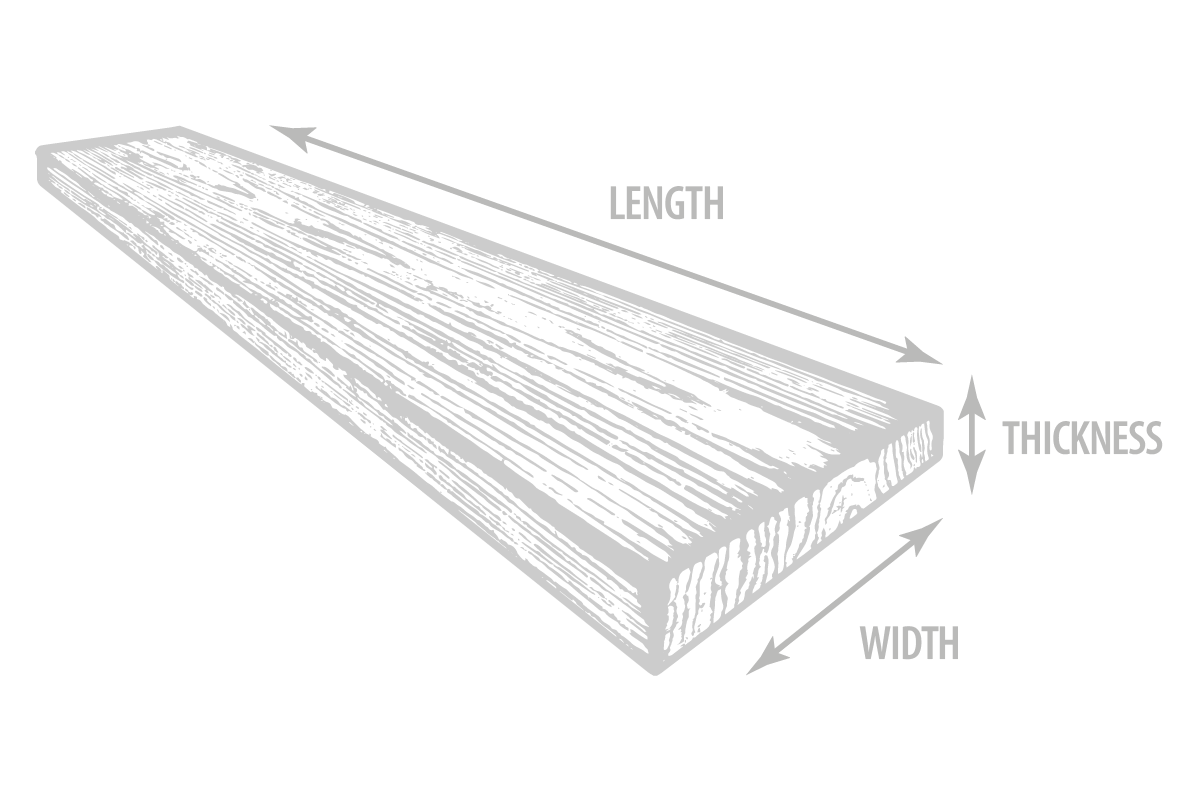 Timber board dimensions