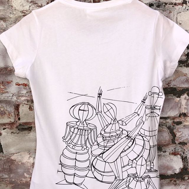 """Now also available in black on white: Our """"Tanz im Raum"""" T-shirt made of pure Pima cotton with handmade silk screen print from a sketch of """"Tanz im Raum"""" by Wolfgang Beltracchi. . . . #beltracchi #tshirt #rebelwithlove #art #fashion #design"""