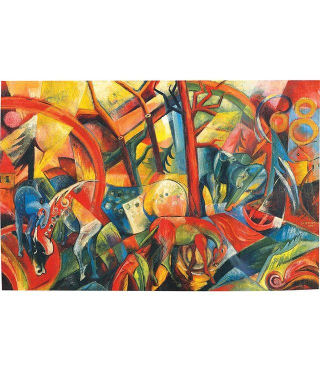 """""""Rotes Bild mit Pferden"""" von Wolfgang Beltracchi wurde 2006 von der Kunstwelt als """"Meisterwerk der klassischen Moderne"""" gefeiert und für einen Weltrekordpreis versteigert, bevor es 2010 als Fälschung entlarvt wurde. Ab sofort ist es bei uns als Premium T-Shirt in verschiedenen Farben und Schnitten erhältlich. . . . #beltracchi#tshirt#rebelwithlove#art #fashion#design"""