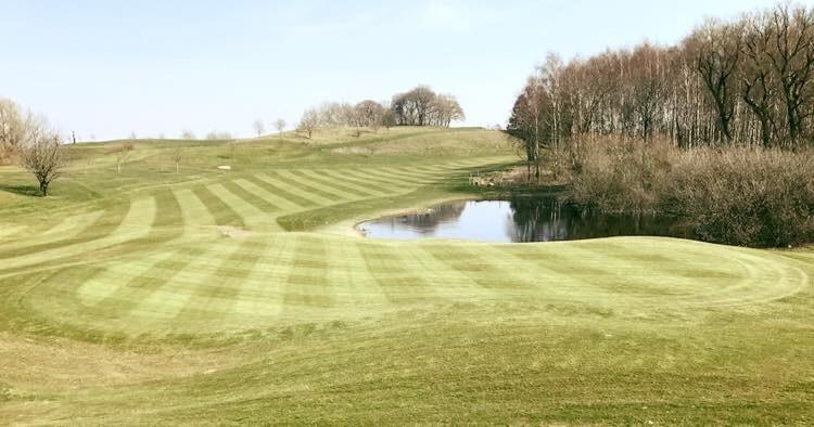 Hål 3 på nya delen av golfbanan