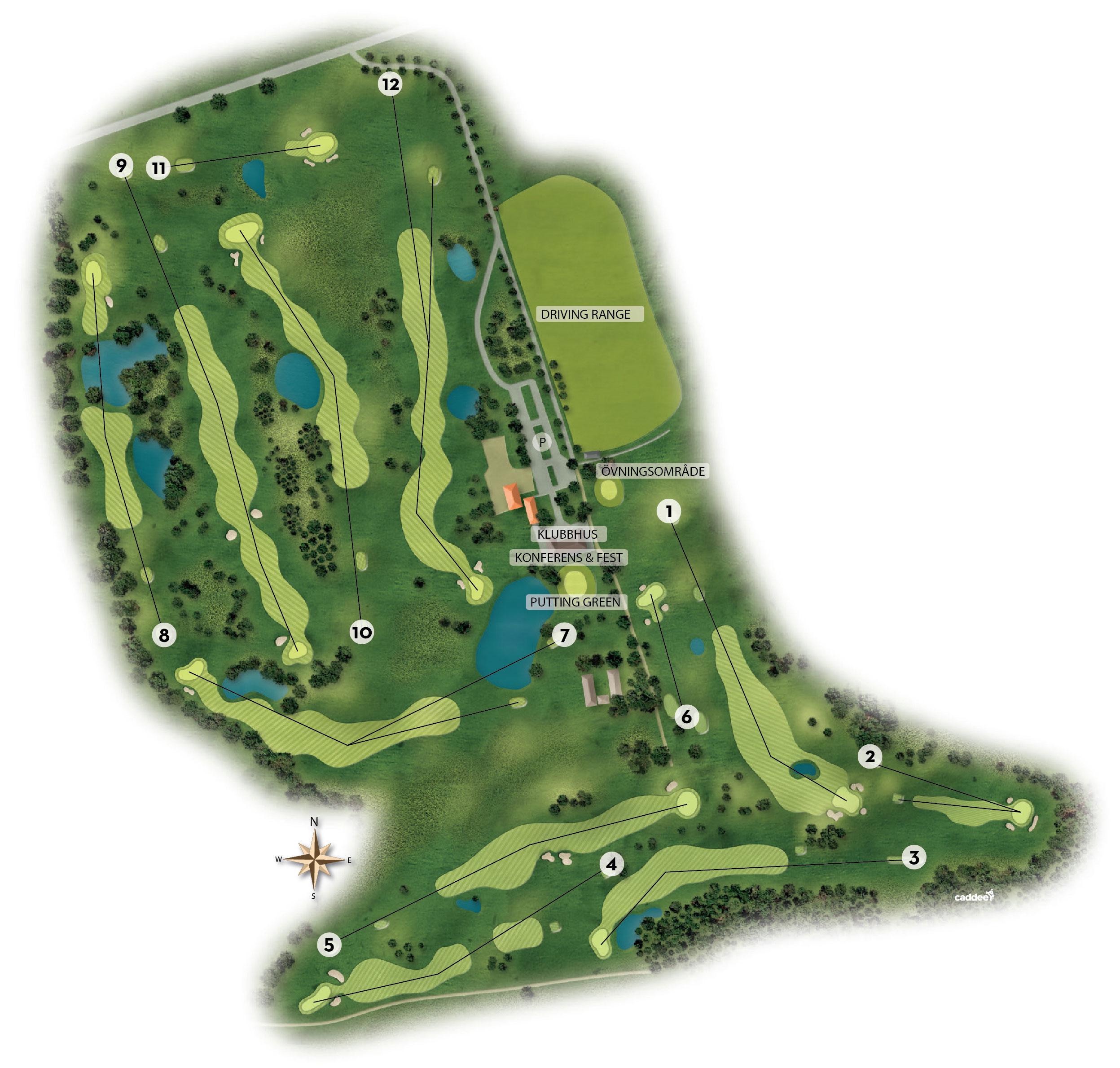 Översikt över golfbanan | Naturligtvis GCC Pay & Play