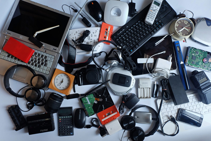 Laptops, batteries, music equipment, digital cameras and more have to be properly recycled.