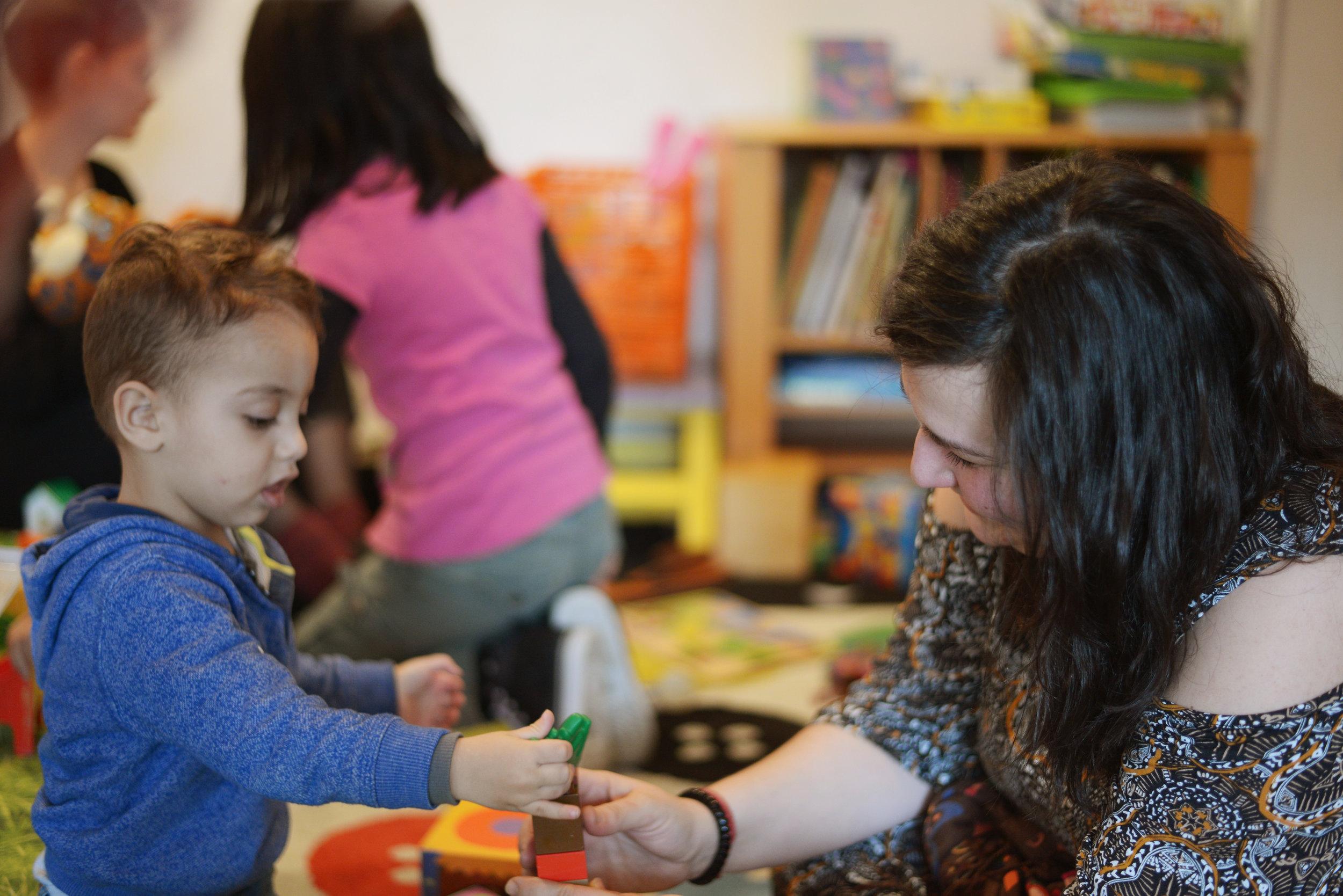 Børnepasning i Trampolinhuset