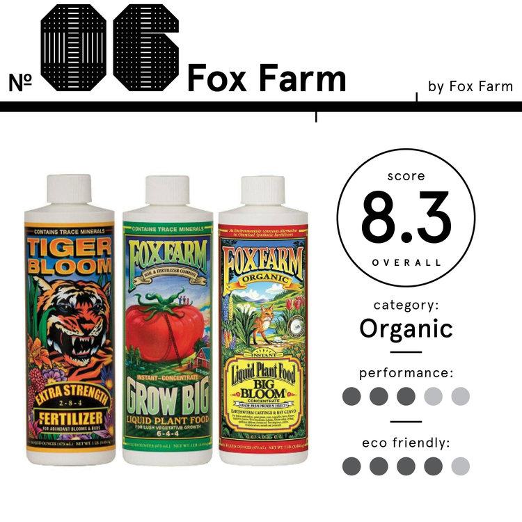 Image of Fox Farm brand Organic Liquid Fertilizers, ranked 6th best organic fertilizer with a total score of 8.3.