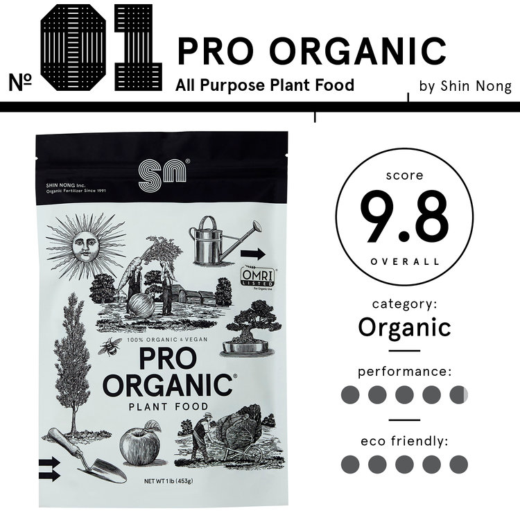 Image of Shin Nong PRO ORGANIC brand organic fertilizer, listed as the best organic fertilizer with an overall score of 9.8.