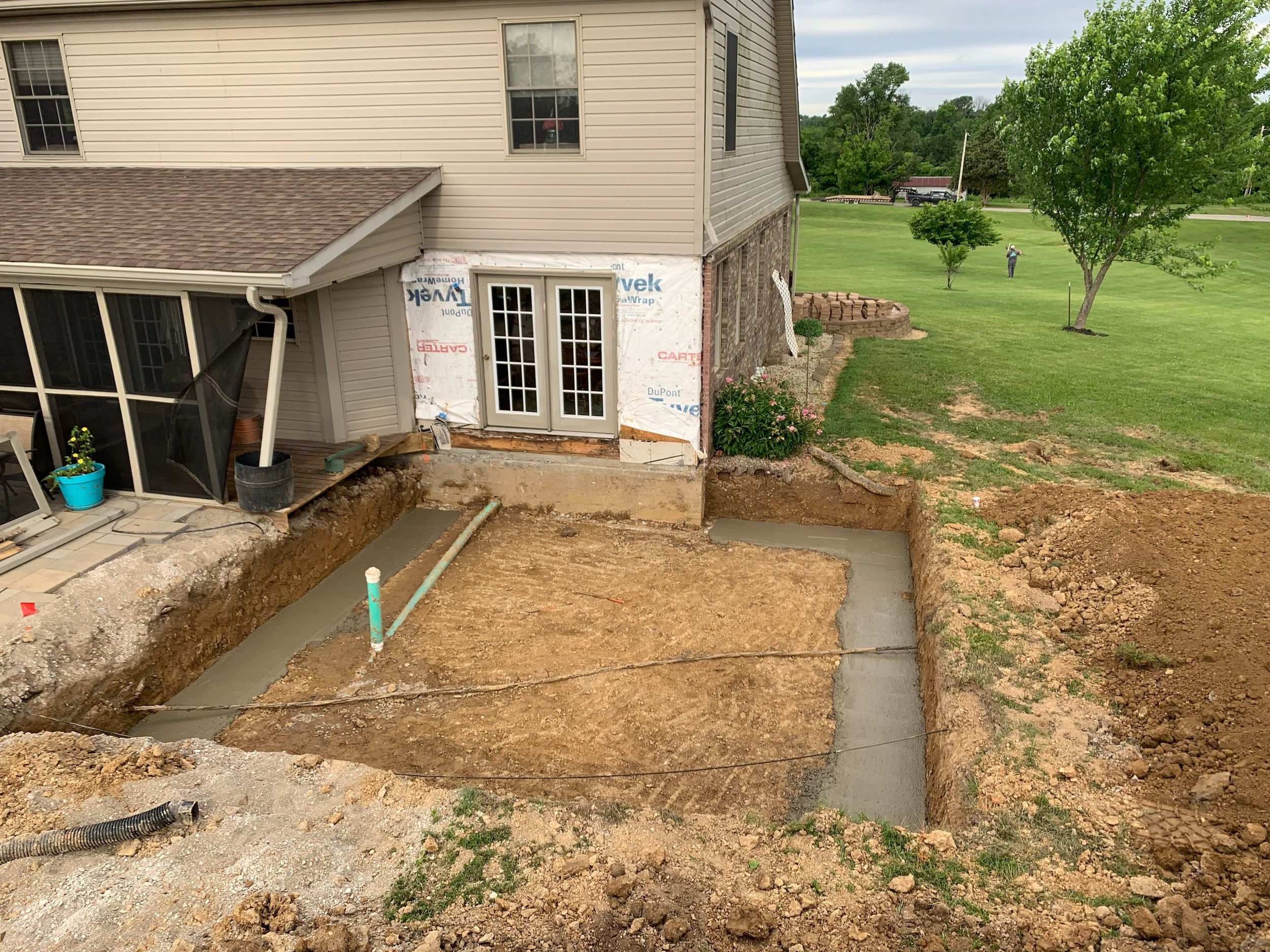Room Addition Footings