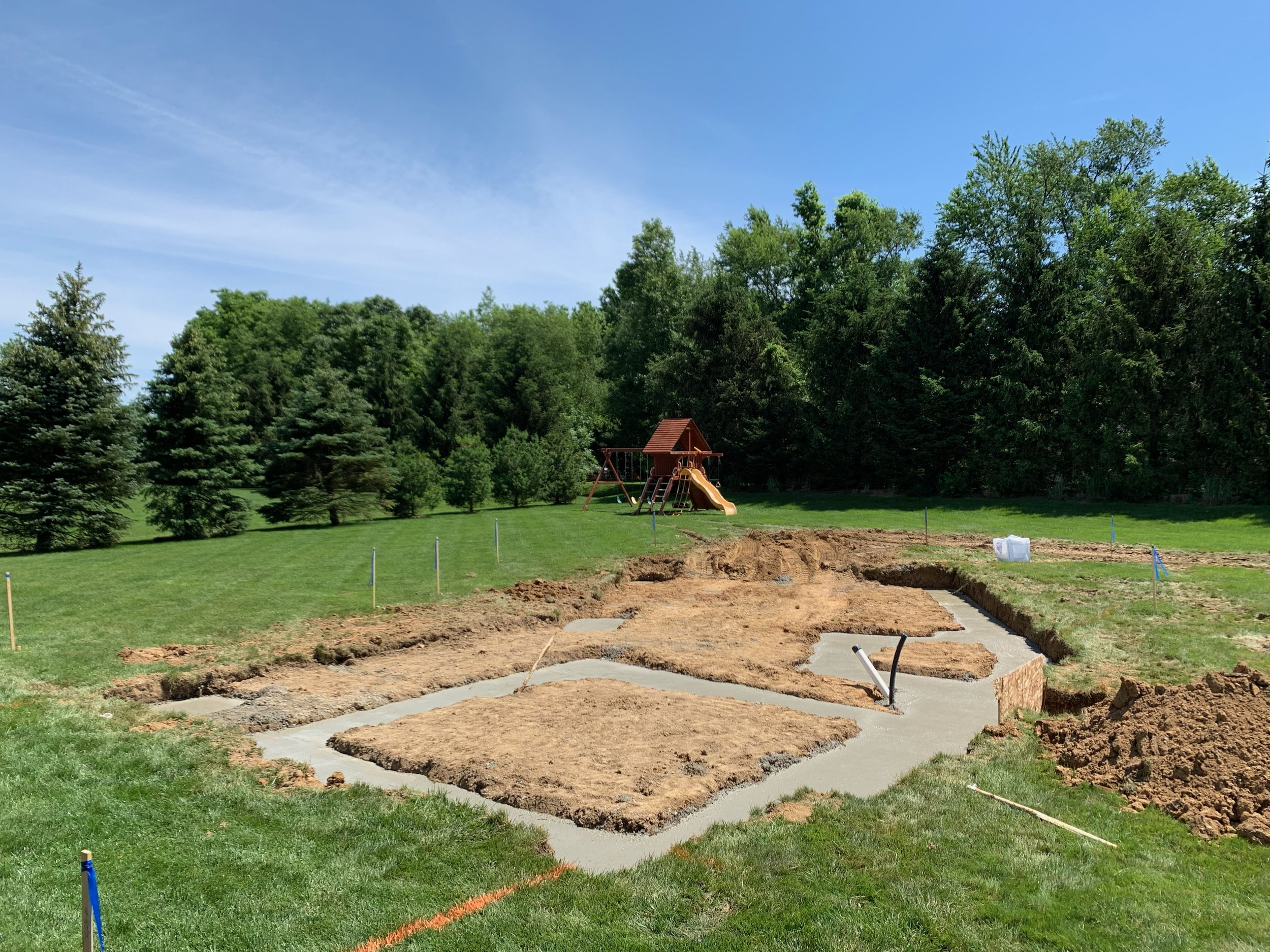 Pool House Footings