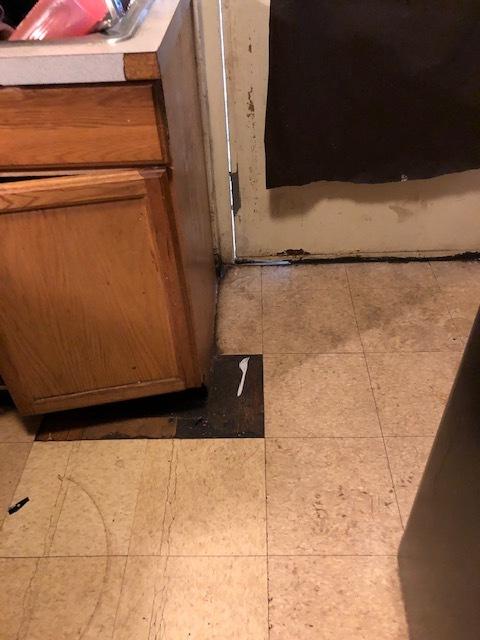 missing floor tiles