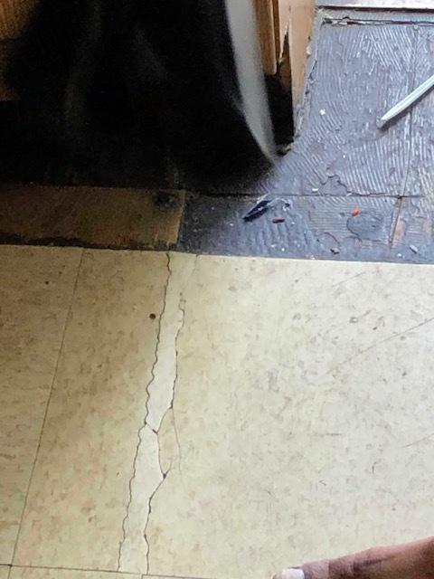 missing flooring
