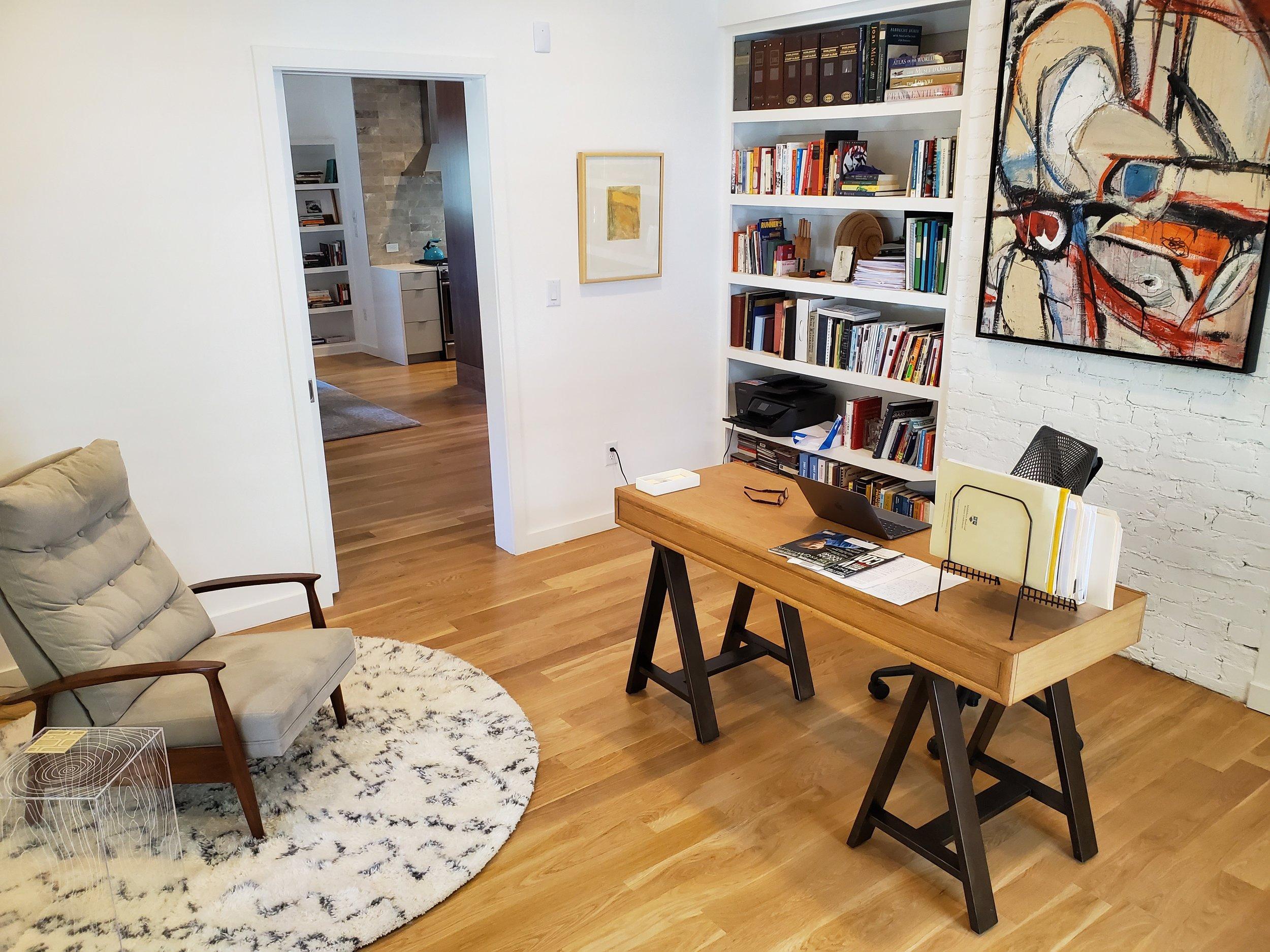 Jane's writing space. (Photo courtesy of Jane.)
