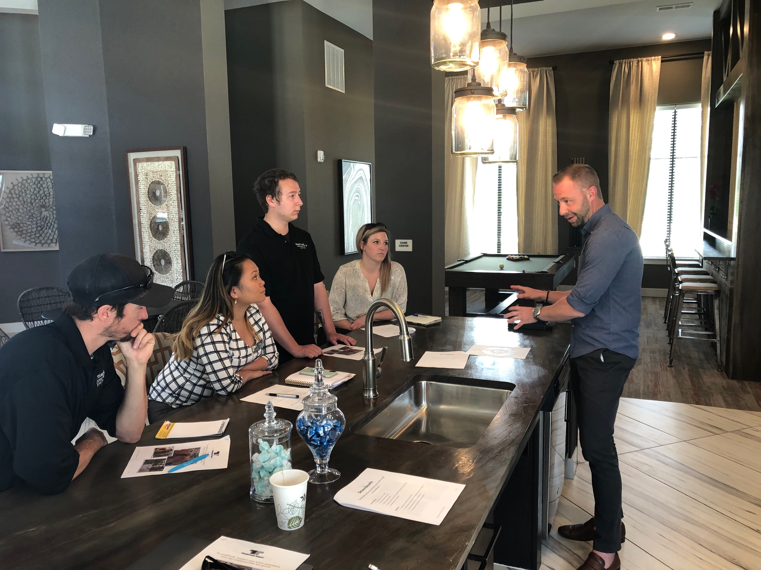 """Clint Garrison talking with our Watermark team about the what it means to live out """"The Watermark Way."""""""