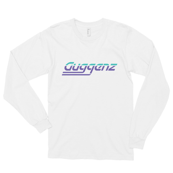 GUGGENZ LONG SLEEVE T SHIRT - TEAL/PURPLE (WHITE)