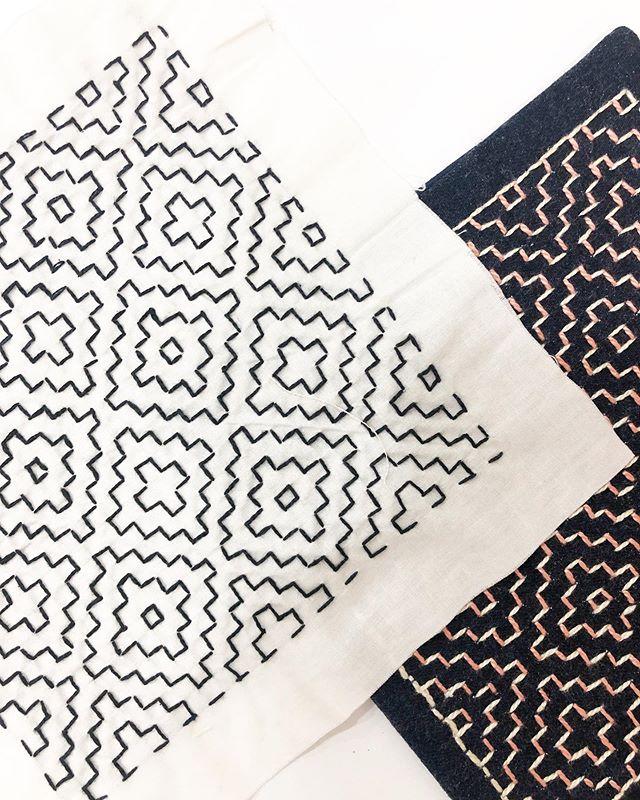 Ainda nos embalos do #sahiko . Lindezas bordadas pela mestra @manufaturah . . . . It's all about sashiko. This piece was embroidered by @manufaturah . #nacasadavivi #bordado #auladebordado