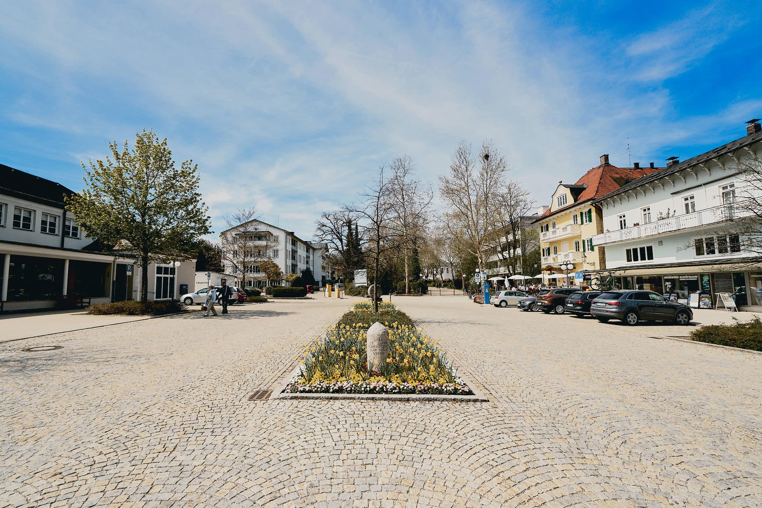 Zentrum des touristischen Bad Tölz - der Vichyplatz