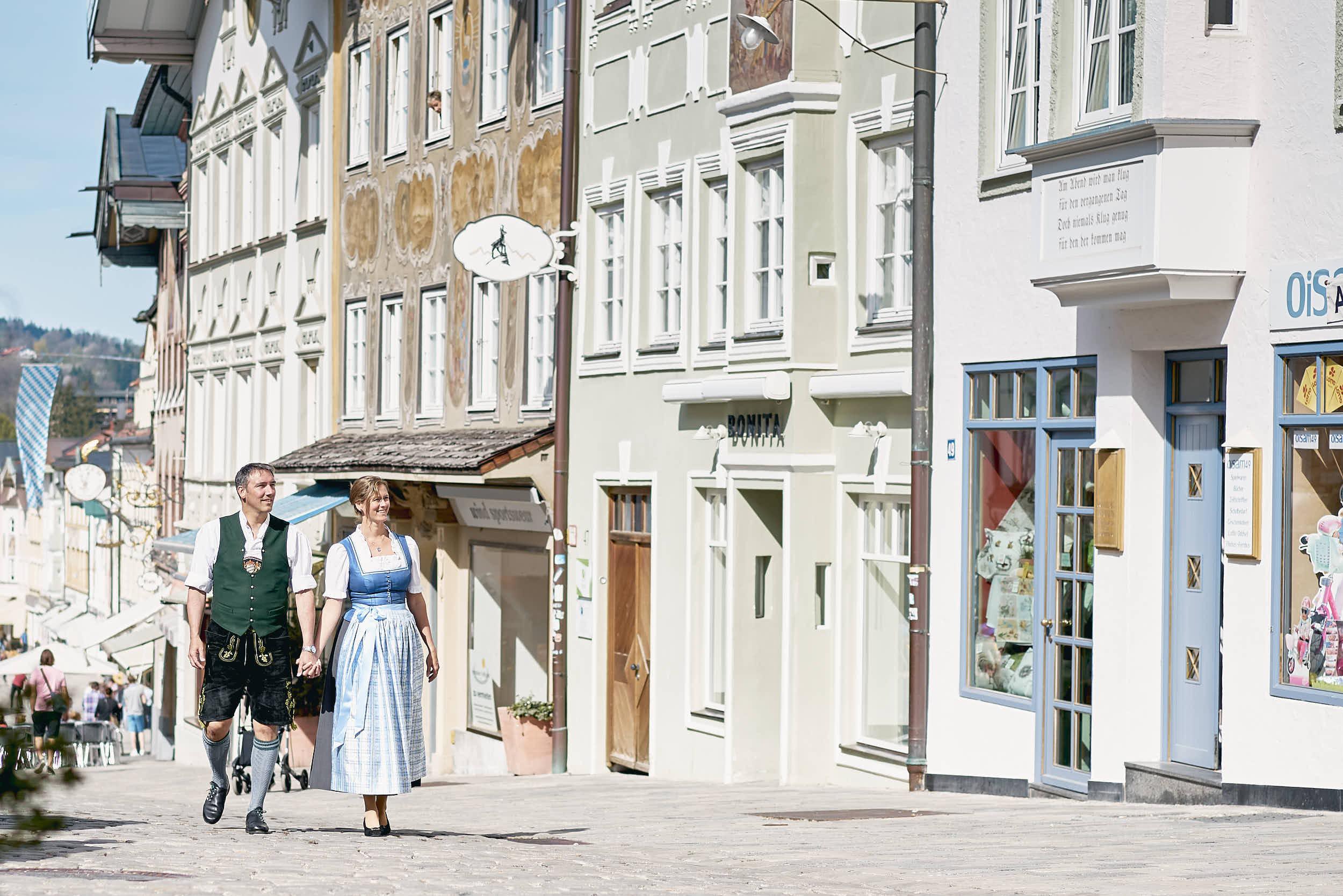 Ingo Mehner mit seiner Frau Stephanie in der Marktstraße.