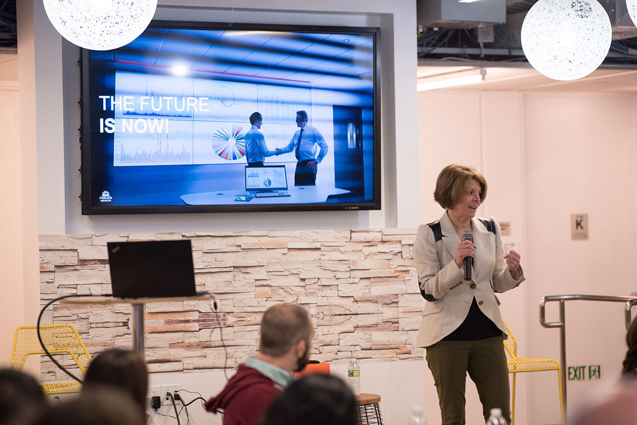 Publicis Health CEO Alexandra von Plato welcomed attendees to the 2018 Publicis Health Global Data & Analytics Summit.