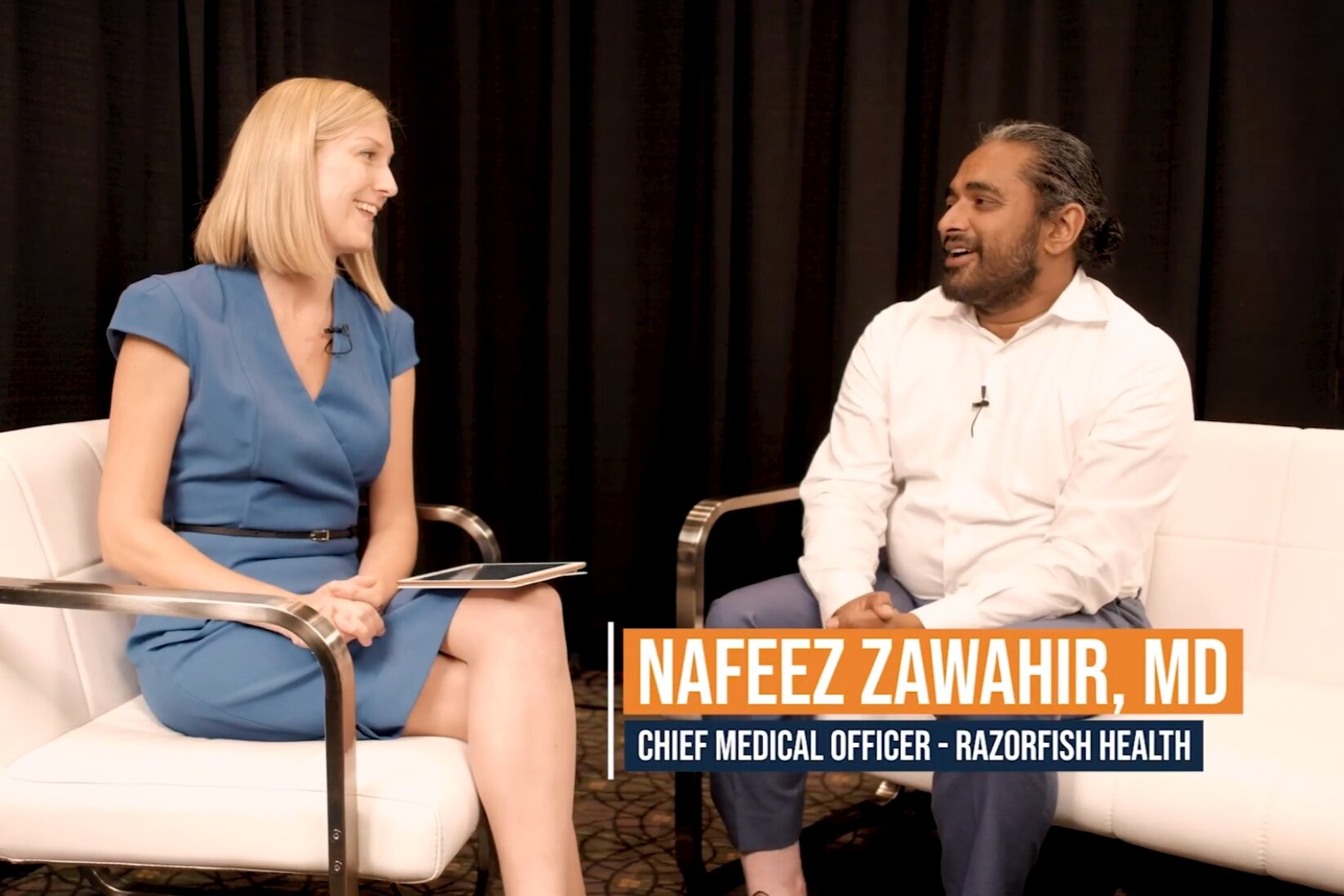 Rebecca WIllumson, Publisher, Fierce Pharma and Nafeez Zawahir, Chief Medical Officer, Razorfish Health.