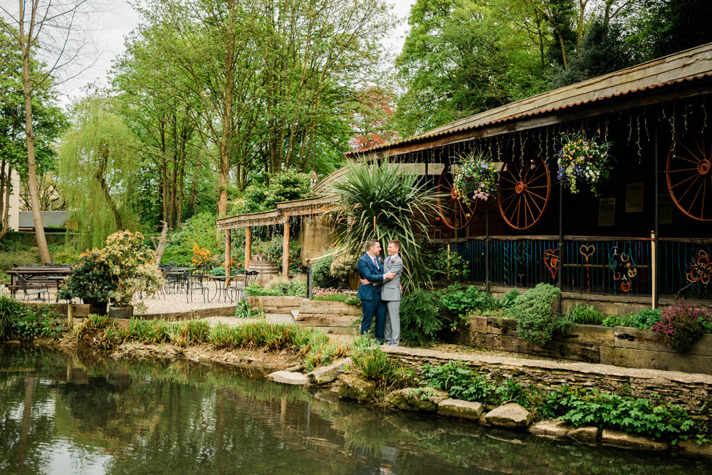 Special-Day-Photography-Egypt-Mills-Hotel-Stroud-Egypt-Mills-same-sex-wedding-Portraits-in-the-outdoors-pond-at-Nailsworth.jpg