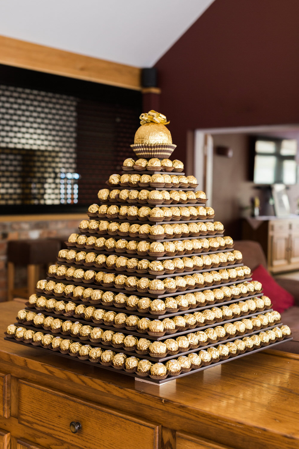 Special-Day-Photography-The-Bringewood-Ludlow-The-Bringewood-Hillside-Wedding-Ferrero-Rocher-wedding-cake.jpg