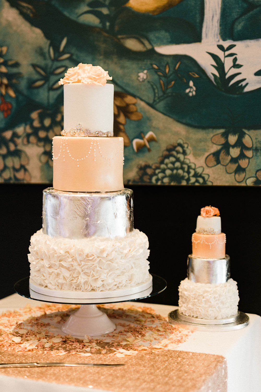 Special-Day-Photography-The-Manor-House-Hotel-Moreton-in-Marsh-Moreton-In-Marsh-Summer-Wedding-Two-wedding-cakes.jpg