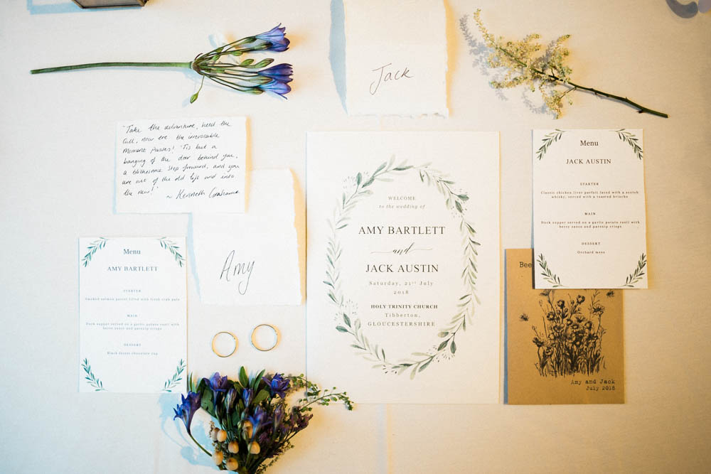 Special-Day-Photography-Hellens-Manor-Much-Marcle-Tudor-Manor-Wedding-table-flat-lay-of-stationary-from-a-wedding.jpg