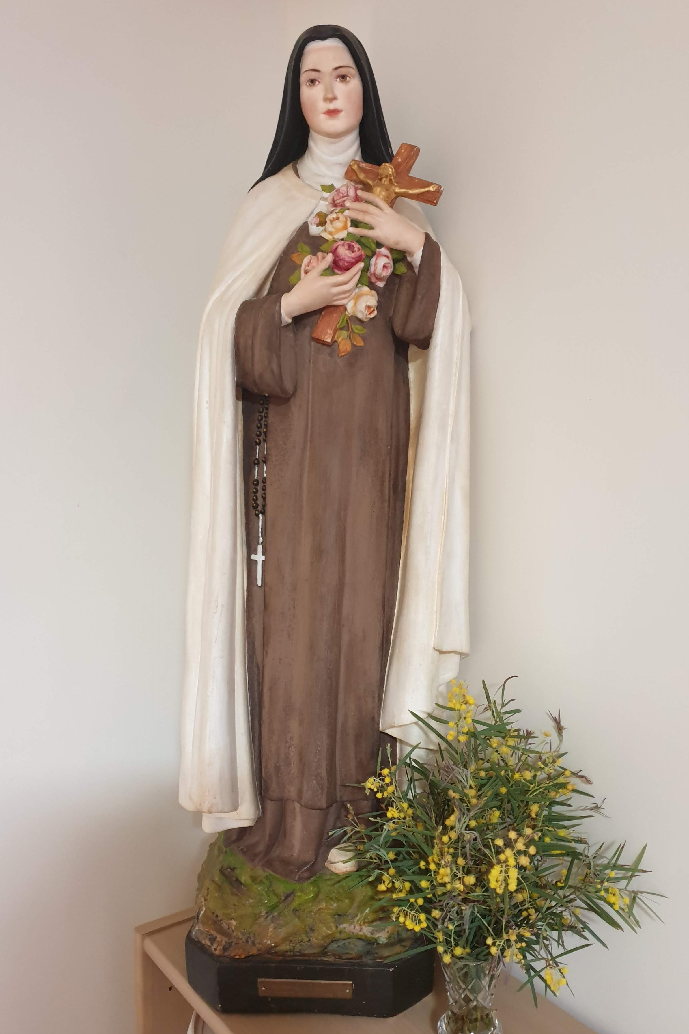 This statue of St Therese of the Child Jesus is in the Nuns' Chapel