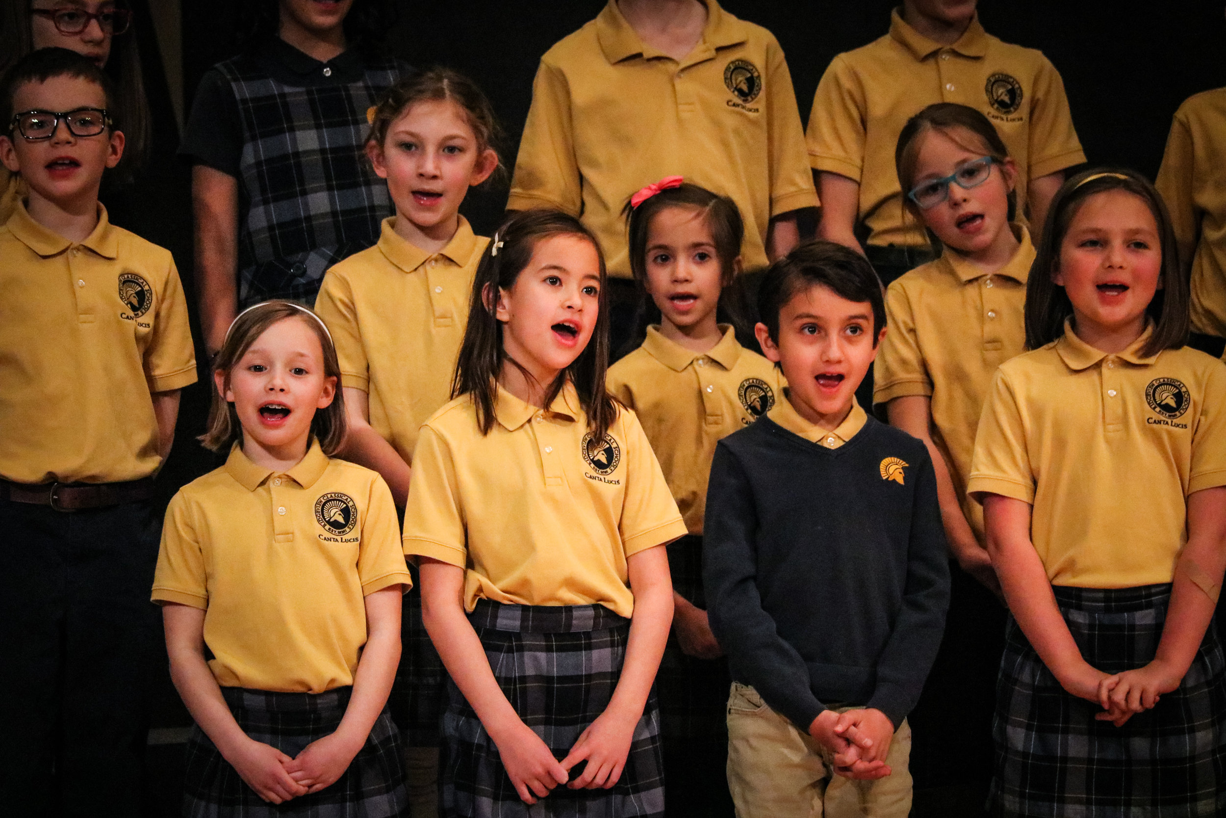 "Canta Lucis - Canta Lucis, meaning ""songs of light,"" is a children's choir open to grades 3-6 with select 2nd grade students. There is no audition requirement to participate. Canta Lucis performs during RCS events and in the Fort Collins community."