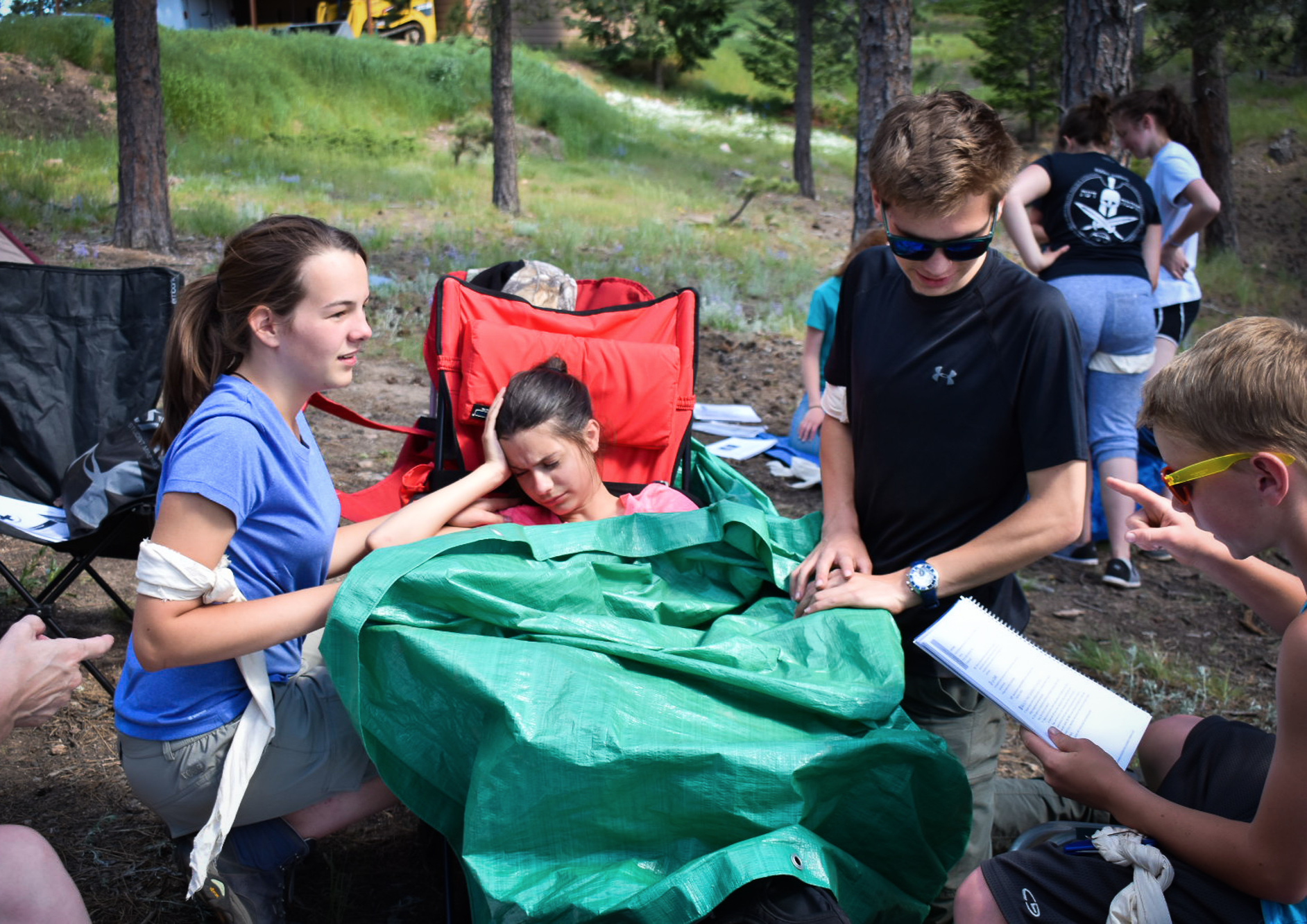 Wilderness First Aid - At the start of each summer, Ridgeview's Student Ambassadors embark on a trip to earn their Wilderness First Aid Certification. They can then venture on class trips during the summer and academic year, equipped with a foundation of wilderness skills.