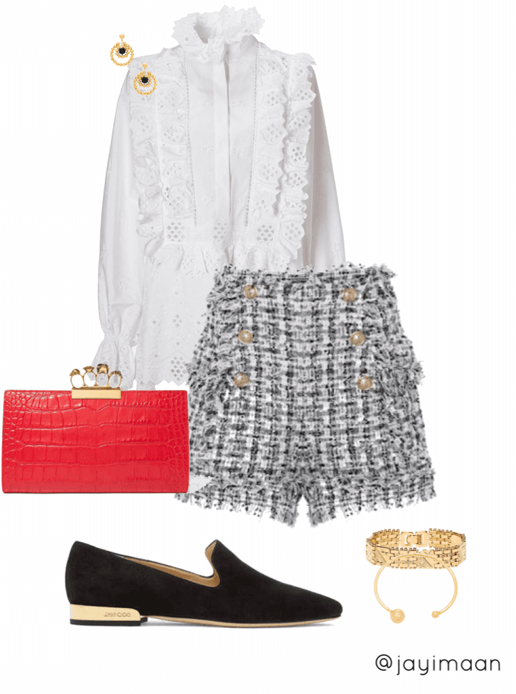 Look 5: Classy and elegant. Perfect for brunch or an event.