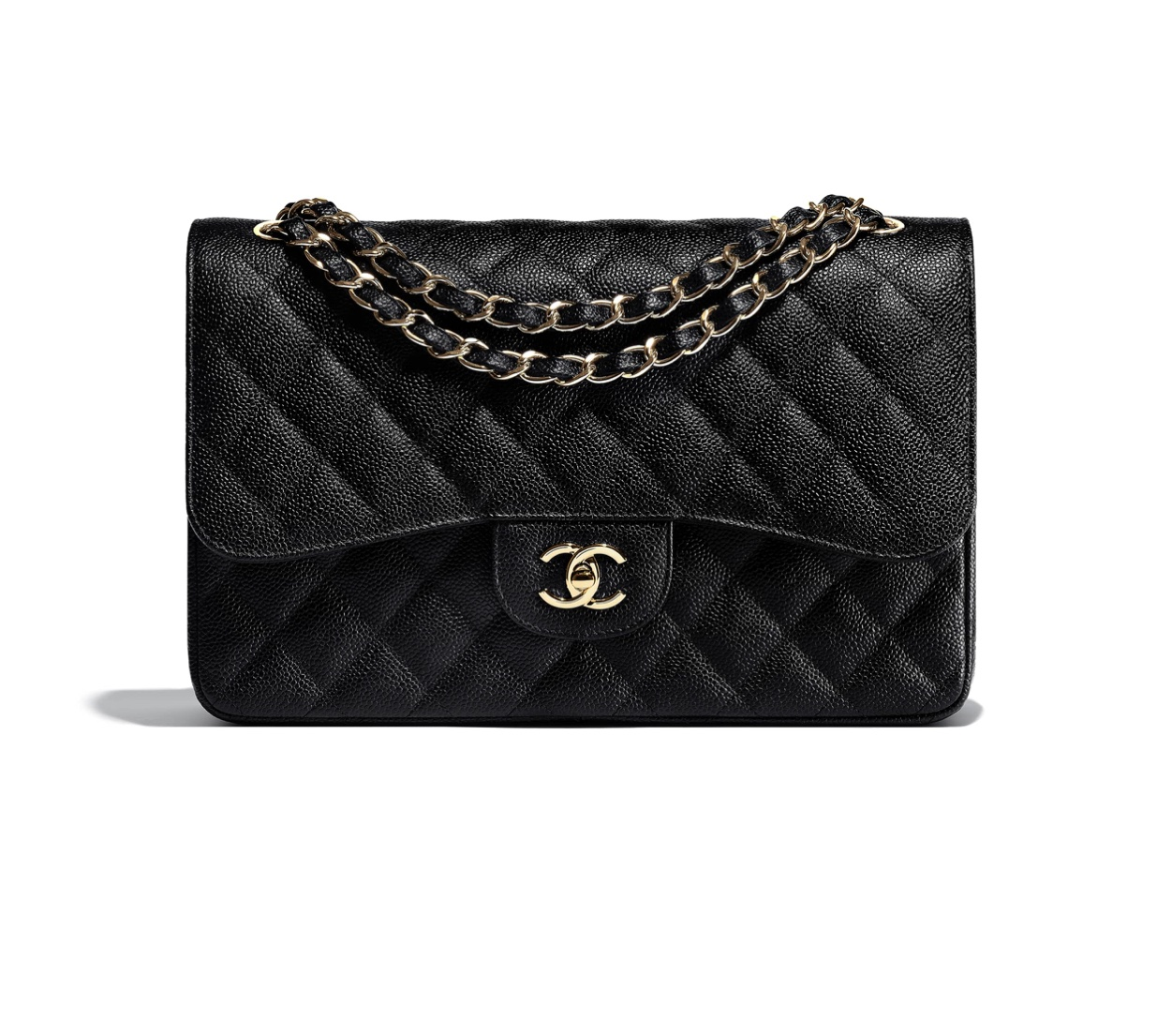 Chanel Classic Jumbo Double Flap Grained Calfskin w. Gold Hardware