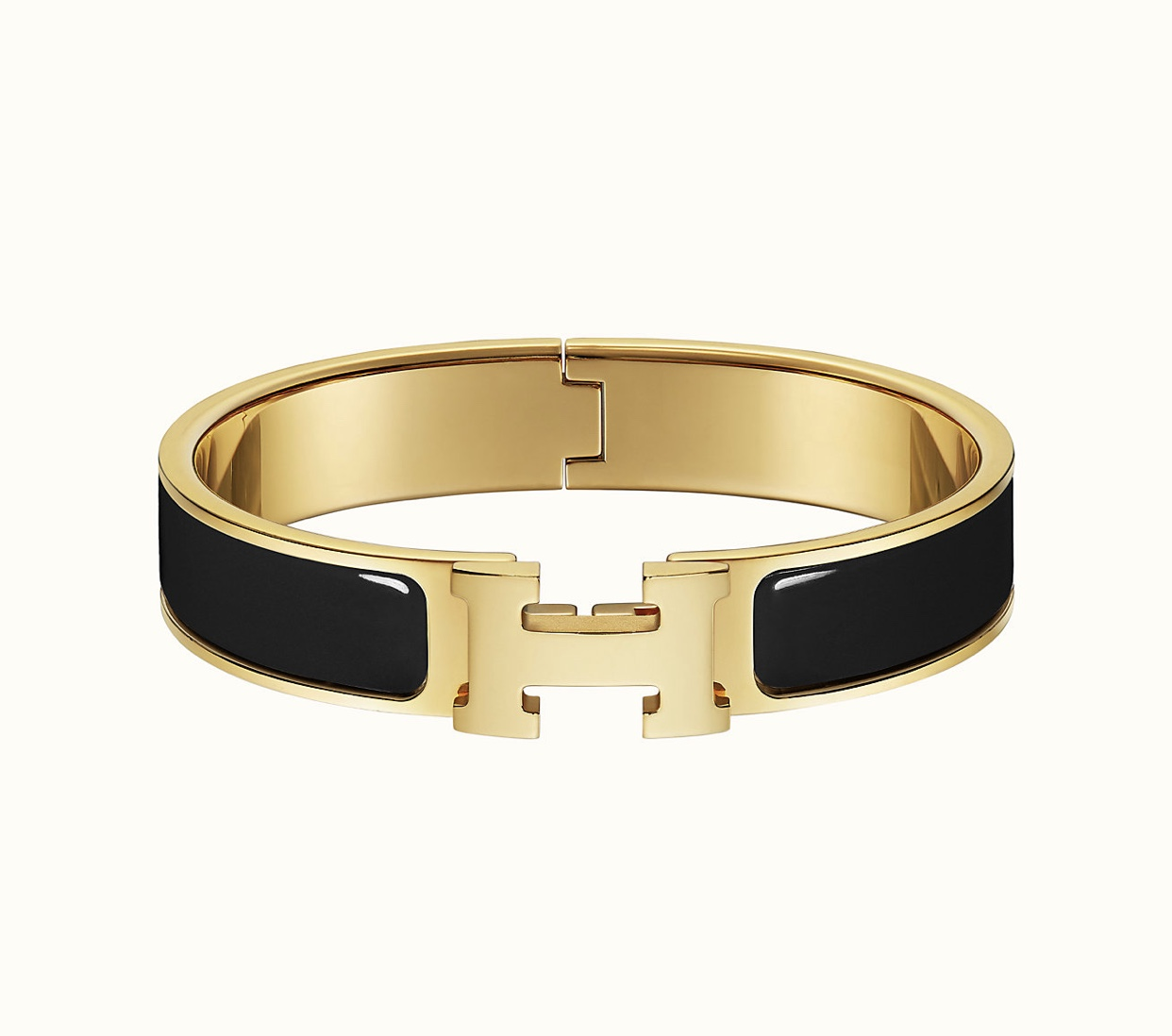 Hermes Clic H Bracelet 7.25 in Noir (and or Blanc)