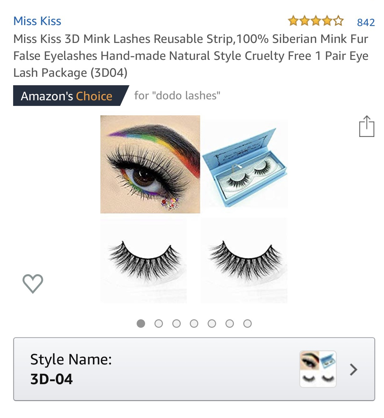 Miss Kiss is my most shopped last vendor on Amazon. Most of the lashes are perfect for everyday wear or if you're looking for that pop without all the dramatics. Plus these were only $7.99, definitely a favorite.