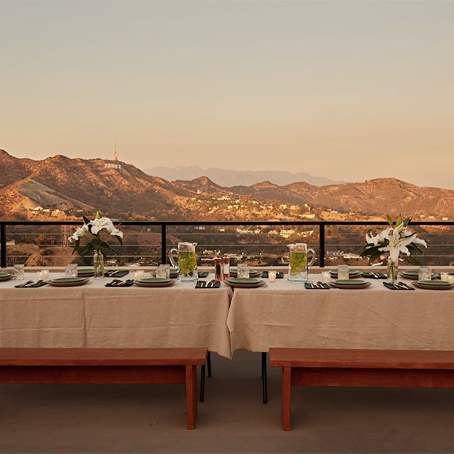 Testing out the setting for our 'Food for Thought' dinner in collaboration with @cacaosuppers . A 5 course cacao experience overlooking the whole of LA.... who's in? 🙋🏻♀️🙋🏽♂️ 19th October, 5pm - 8.30pm followed by fire-pit and poolside hang.  There are a few early bird tickets left - $65 - link in bio.  #foodforthought #hollywood #cacaosuppers #popupdinner