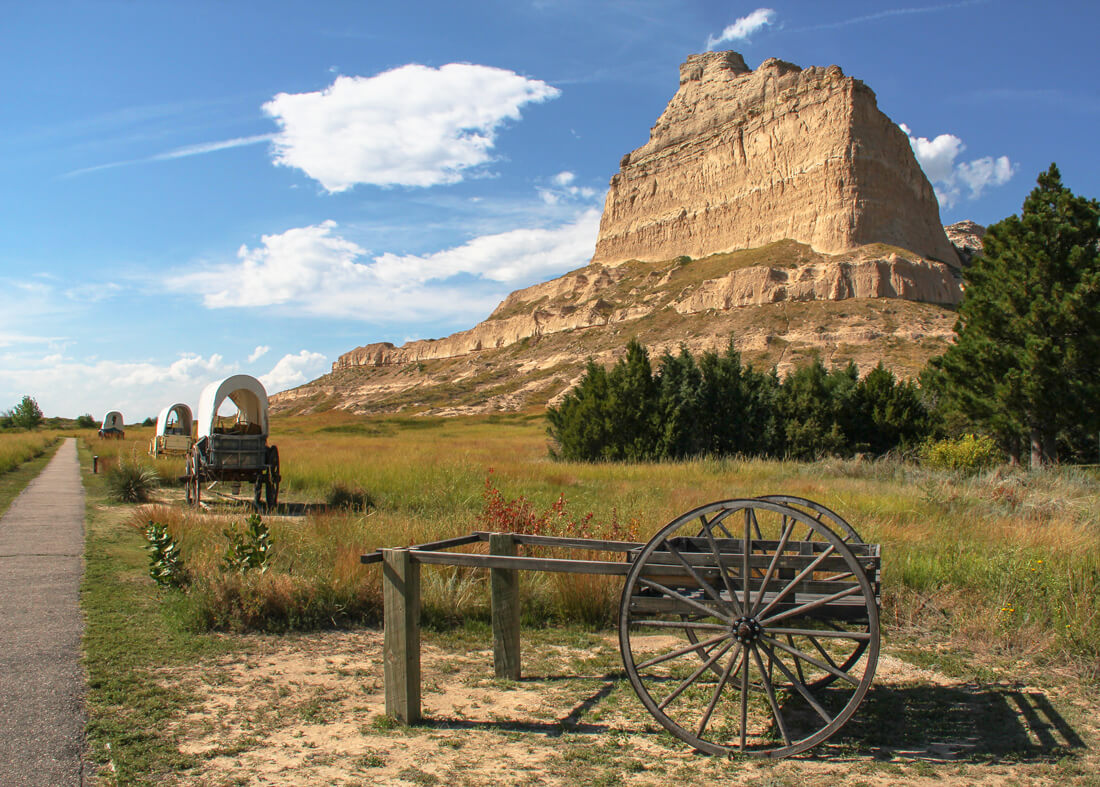 Scotts Bluff National Monument along part of the historic Oregon Trail