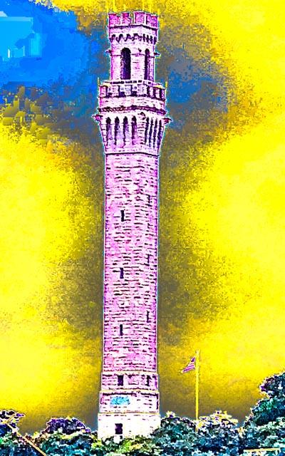 Provincetown: Purple/Yellow Pilgrim Monument