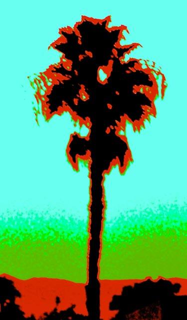 Palms #1 - Blue