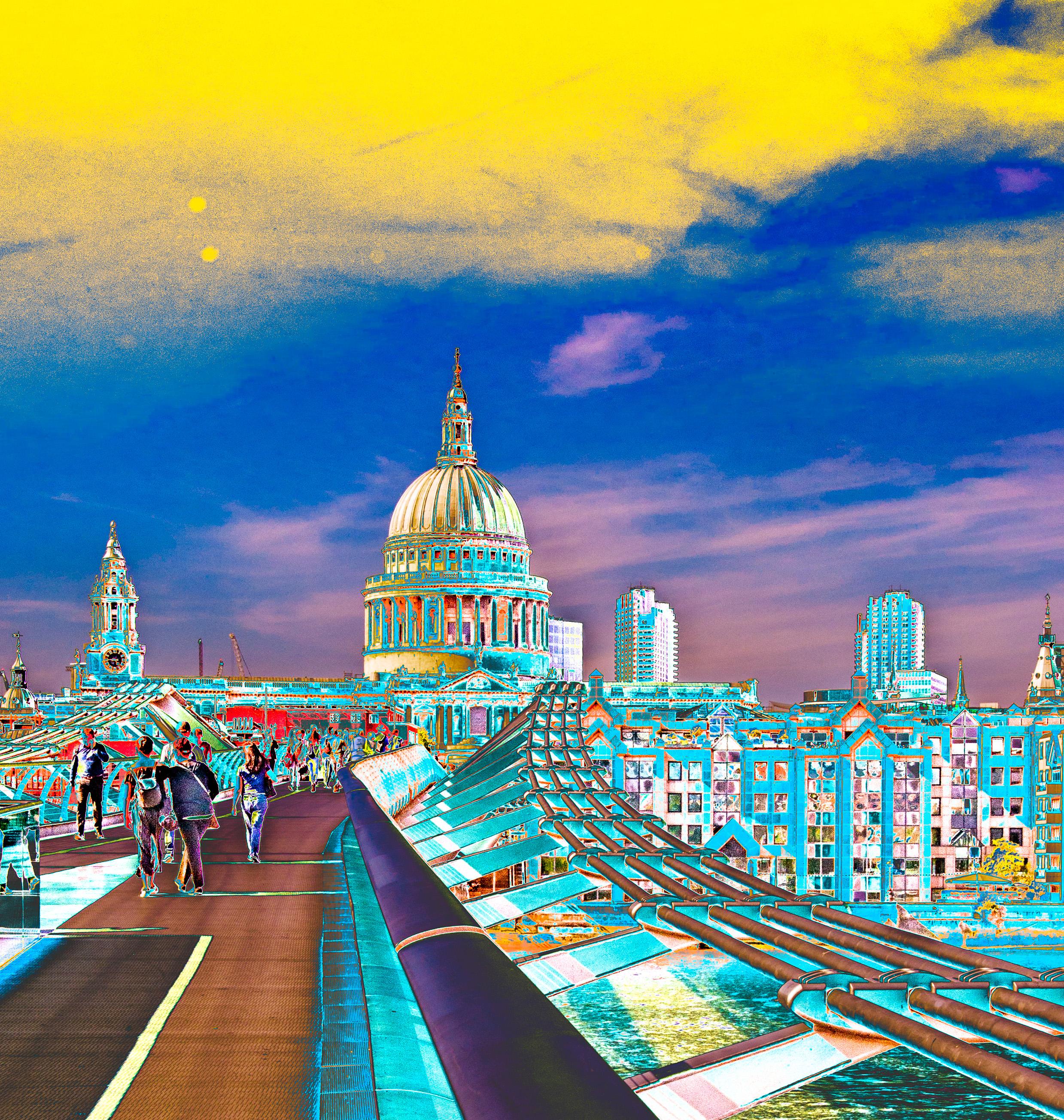 Millennium Bridge/St. Paul's Cathedral London