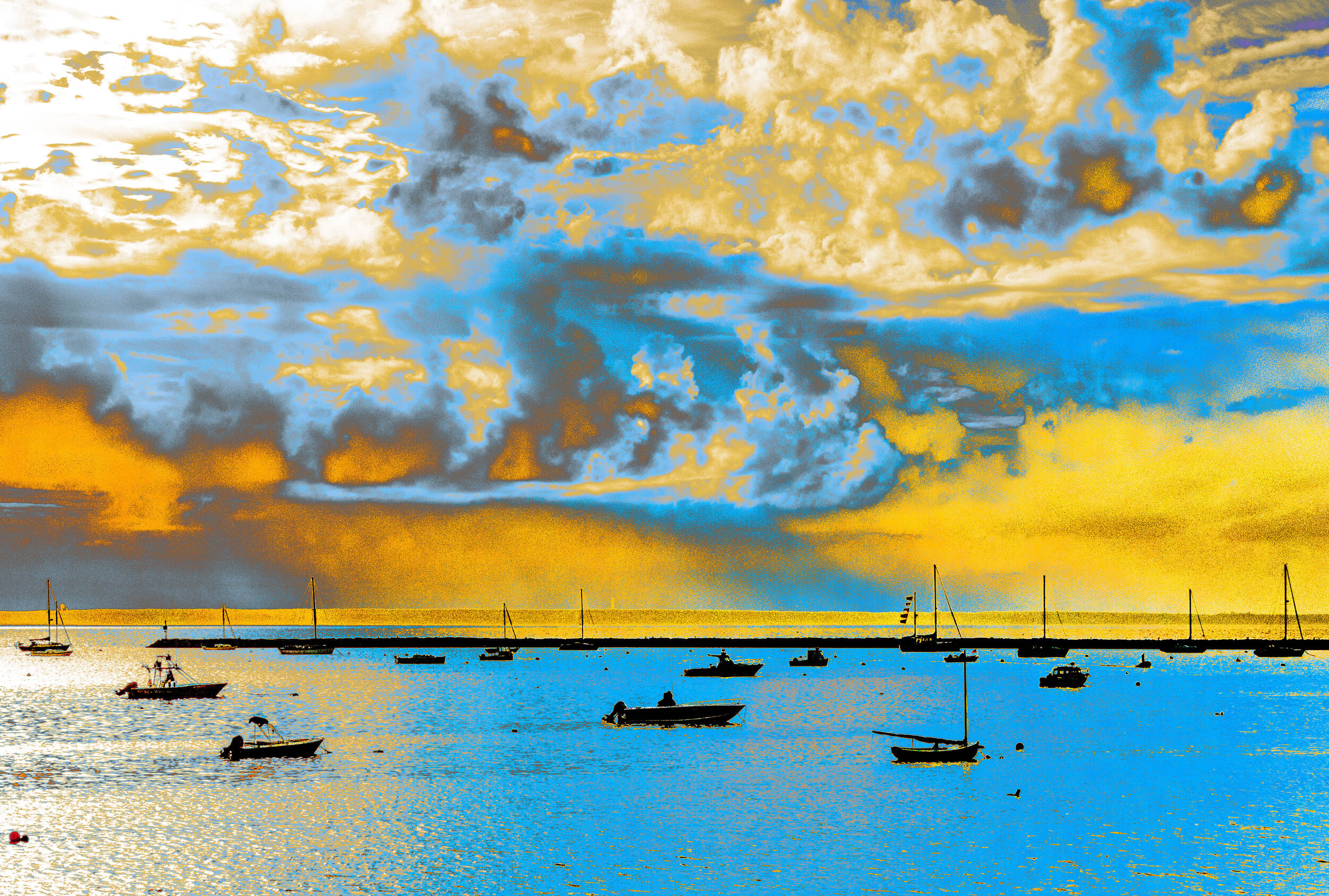 Provincetown Blue/Yellow Sky over Bay